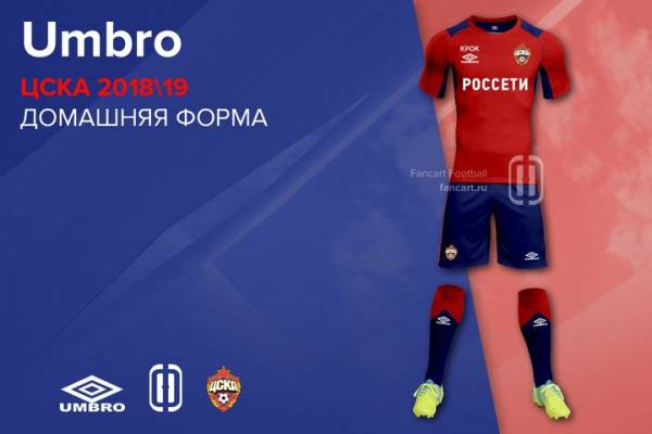 Форма ЦСКА на сезон 2018-2020, новая, фото