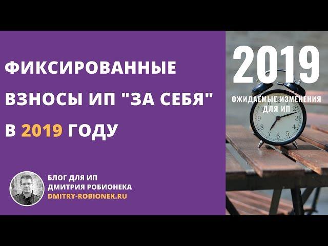 Страховые взносы ИП — за себя — в 2019 году: сумма и порядок уплаты