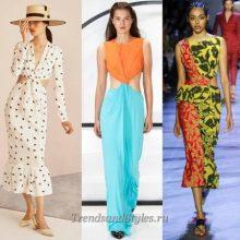 Модные платья весна-лето 2019, тенденции