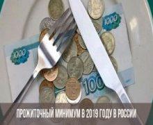Прожиточный минимум в 2020 году по регионам России