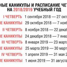 Школьные каникулы и расписание четвертей в 2018
